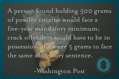 Mandatory minimum sentencing crack cocaine