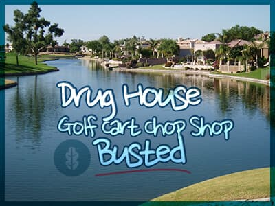 Drug House, Golf Cart Chop Shop Busted in FL Retirement Community
